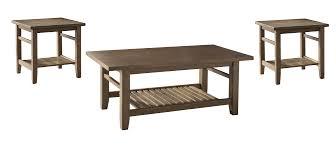 Ashley Outdoor Furniture Ashley Furniture T125 13 Zantori 3 Pc Coffee Table Set Light Brown