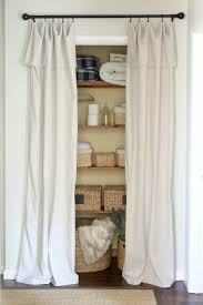 Cloth Closet Doors Closet Door Alternative Easy Drop Cloth Curtains Home Sweet