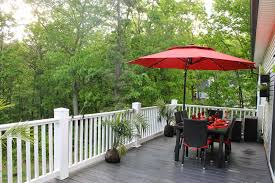 Cantilever Patio Umbrella Canada by Exterior Breathtaking Cantilever Patio Umbrella Red Lowe Offset