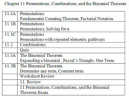 11 permutations combinations and the binomial theorem