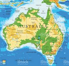 Australian World Map by Australiaphysical Map Stock Vector Art 524533084 Istock