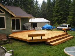 Cedar Deck Bench Jw Construction Photo Gallery Simple Cedar Deck With Benches