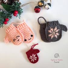 mittens ornament free crochet pattern ideas