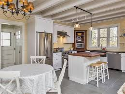 Cottage Kitchen Island Cottage Kitchen With European Cabinets U0026 High Ceiling In Cape