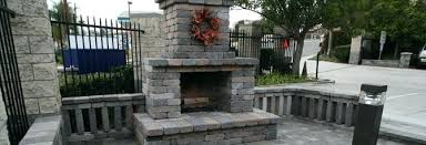 Stacked Stone Outdoor Fireplace - colonial stone outdoor fireplace kit fresh design patio kits ideas