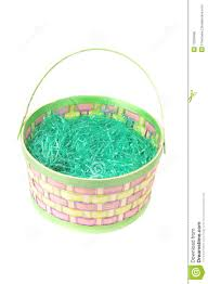 easter basket grass empty easter basket with green grass on white royalty free stock