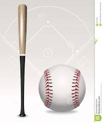 baseball bat ball field elements stock vector image 42152857
