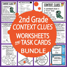 context clues activities and task cards bundle 25 context clues