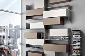 wall mounted bookcase modular contemporary lacquered wood