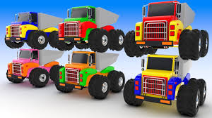 monster trucks colors kids learning colours monster trucks