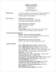 cosmetologist resume cosmetology resume exles for students sle cosmetologist hair