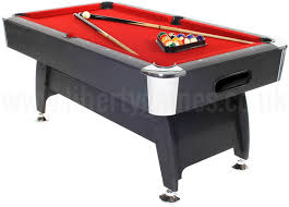 Sportscraft Pool Table Pro American Deluxe 6ft American Style Pool Table With Red Cloth
