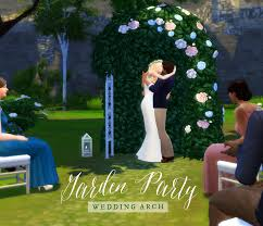 wedding arch garden femmeonamissionsims garden party wedding arch throw your sims the