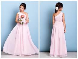 chiffon flower dresses junior bridesmaid dress floor length a