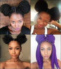 black women double bun hairstyles for naughty look