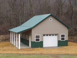 Barn Garage Designs This 30x40x14 Brown And Green Residential Pole Barn Also Has A