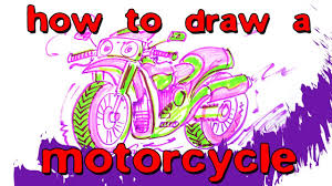 how to draw a motorcycle bike dad draws pinterest
