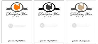 printable thanksgiving menu templates happy thanksgiving