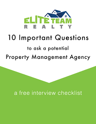 Home Inspection Checklist Free by Property Management Charlotte Nc Elite Team Realty