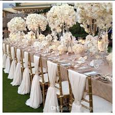 Chair Sashes Wholesale Romantic Chiffon Wedding Party Anniversary Chair Sash Party