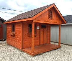 Horizon Home Furniture 10x14 Horizon Cabin With Stained Pine Siding Swingsets Luxcraft