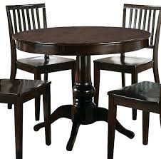 espresso dining table with leaf round espresso dining table set silver 5 piece drop leaf dining