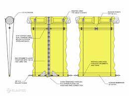 Turbidity Curtains Type 3 Dot Ruffwater Screen Turbidity Curtain Elastec