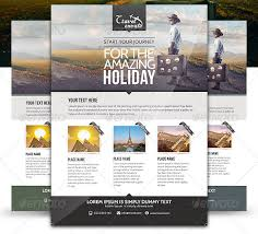 14 beautiful travel flyer templates u2013 design freebies