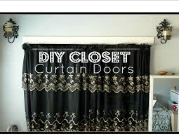 How To Cover A Window by Diy Closet Curtain Doors Cheap Easy Room Decor Youtube