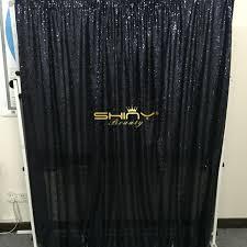 Black Backdrop Curtains Shiny Photography Background 6x8ft Black Sequin Photo Backdrop