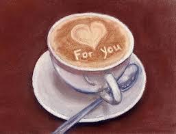 caffe latte painting by anastasiya malakhova