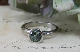 Peacock Colour Cushions Engagement Rings Beautiful Green Sapphire Engagement Rings