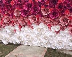wedding backdrop china large paper flowers etsy