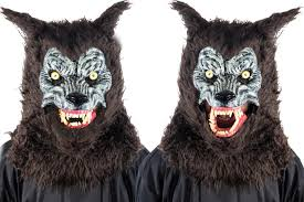 Werewolf Mask Animated Animal Brown Werewolf Mask With Sound Costume