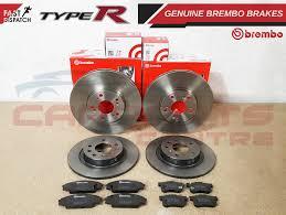 honda civic 2 0 type r fn2 front borg u0026 beck brake pads coated