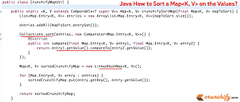 Map Java In Java How To Sort A Map On The Values The Map Interface Java