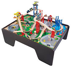 kidkraft train table compatible with thomas amazon com kidkraft super expressway train set table toys games