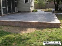 Building A Raised Patio Rudy Grilli Concrete Work Stamped Decorative Concrete Raised