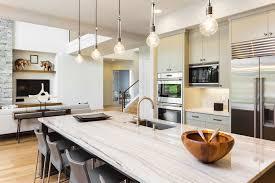 modern kitchen with feature marble island bench yak u0026 yeti