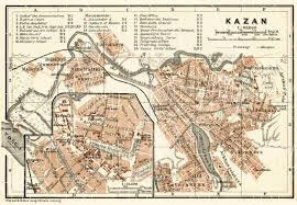 map of kazan map of kazan казань in 1914 buy vintage map replica poster