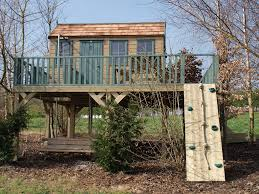 Treehouse Examples Large Treehouse With Decked Play Area Treehouses The Playhouse