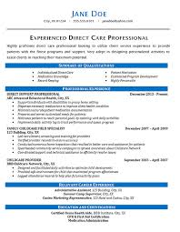 Home Child Care Provider Resume Direct Care Resume Example Health Care Patients