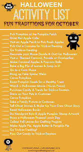 halloween activity list printable october activities and holidays