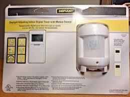 Outdoor Timer With Light Sensor - defiant daylight adjusting indoor digital timer motion sensor
