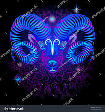 Colors Of The Zodiac by Neon Signs Zodiac Aries Stock Vector 188927588 Shutterstock