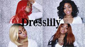 dresslily wig try on haul giveaway youtube
