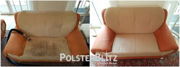 polsterreinigung sofa weißes sofa mit normaler verschmutzung gereinigt