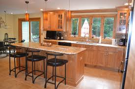 Red Birch Kitchen Cabinets Dazzling Tan Brown Granite Look Other Metro Traditional Kitchen