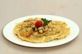 recette de cuisine plat recette de omelette à plat aux légumes rapide