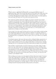 cover letter samples of cover letter for cv samples of cover
